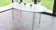 Ellie White Oval Dining Table