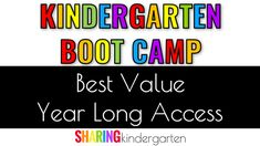 kindergarten bootcamp professional development for kindergarten teachers