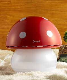 For the kids rooms!! Red Ultrasonic Mushroom Humidifier/Night-Light