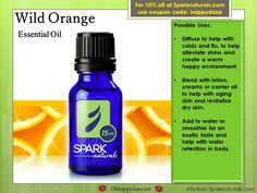 Wild Orange has been used to promote good feelings and mood and may help relax the body and help children sleep at night.For 10% off your order at Sparknaturals.com use coupon code: happydaze