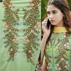 MD Ahmad 143 Zardozi Embroidery, Embroidery On Kurtis, Kurti Embroidery Design, Hand Embroidery Dress, Embroidery On Clothes, Embroidery Works, Rose Embroidery, Embroidery Fashion, Diy Embroidery Patterns