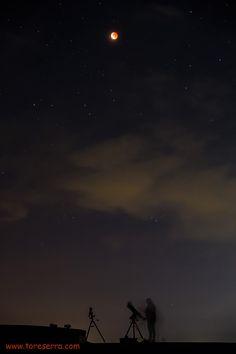 Astronomia che passione di Tore Serra. Fasi di ripresa dell'Eclisse di luna del 28 settembre 2015