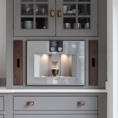 Kitchen Inspirations, Coffee Machine, Minimalist Interior, Cabinetry, Kitchen Utilities, Luxury Appliances, Gaggenau, Interior Inspo, Humphrey Munson