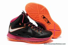 Cheap Nike Lebron X (10) Black Pink Orange style 541100-005