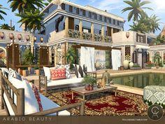 The Sims 4 Arabic Beauty Sims 4 Teen, Sims Four, Sims Cc, Sims 4 Loft, Sims 4 Controls, The Sims 4 Lots, Asian House, Mansion Designs, Casas The Sims 4