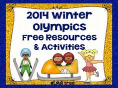 LMN Tree: Winter Olympics: Free Resources and Activities #Freebie