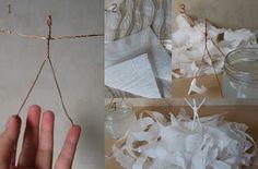 Οδηγίες κατασκευής-μπαλαρίνες-1 Craft Tutorials, Backdrops, Projects, Blog, Crafts, Inspiration, Ballerinas, Angels, Construction