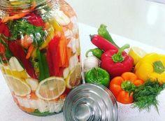 חמוצים בקלי קלות - מתכונים מתוקים Tahini Cookies Recipe, Salad Dressing, Diy Food, Fresh Rolls, Pickles, Salad Recipes, Salads, Cooking Recipes, Stuffed Peppers