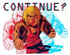 Street Fighter's Ken by artist Dan Hipp.