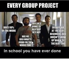 Group Projects - have to say this was my school lol