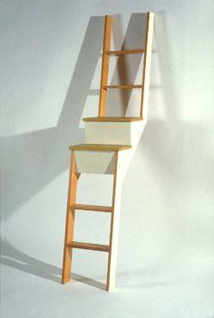 Stair ladder...or ladder bookshelf?