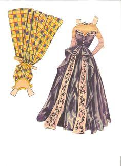 Miss Missy Paper Dolls: Ava Gardner-clothes