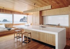 Beach house kitchen wins TIDA architect's award   Homed   Stuff.co.nz