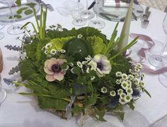 centrotavola verde. matrimonio in Umbria. Italy wedding