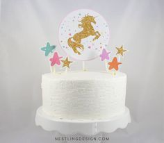 Unicorn Cake Topper / Printable Cake Topper / Centerpiece / Party  Decorations / Unicorn Party / Rainbow / Glitter Unicorn / Unicorn  Birthday #catchmyparty #unicorn #cake #topper