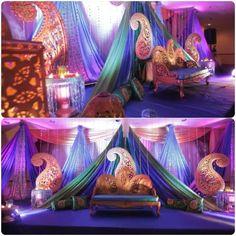 Mehndi stage from AA wedding
