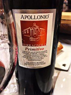 El Alma del Vino.: Apollonio Casa Vinicola Terragnolo Primitivo Salento Rosso 2011.
