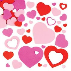 Baker Ross Heart Stickers - 150 assorted self-adhesive Foam Hearts to liven up cards and collage. Size in assorted colours. Mothers Day Crafts, Valentine Day Crafts, Crafts For Kids, Arts And Crafts, Children Crafts, Craft Shop, Craft Kits, Craft Supplies, Pop Out Cards