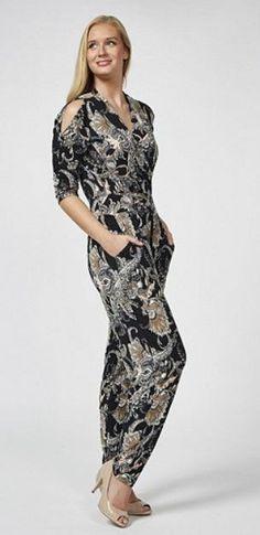 64d0d11755e6 Kim & Co Brazil Jersey Wrap Front Jumpsuit Size L LF182 FF 11 #fashion