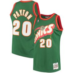 Gary Payton Seattle SuperSonics Mitchell   Ness 1995-96 Hardwood Classics Swingman  Jersey - Green e06613858