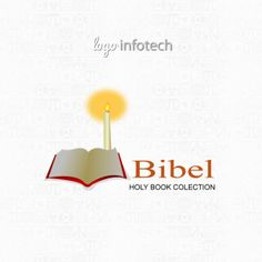 Bibel Holy Book Colection Design Logo