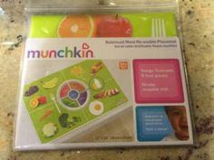Munchkin Balanced Meal Re-Usable Placemat 24+ Months 5 Food Groups No Slip New - http://baby.goshoppins.com/feeding/munchkin-balanced-meal-re-usable-placemat-24-months-5-food-groups-no-slip-new/