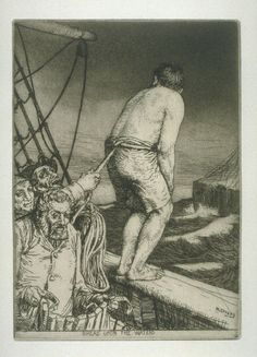 Bread upon the Waters, plate 18 in the book, A Series of thirty Etchings … illustrating Subjects from the Writings of Rudyard Kipling (London: Macmillan, 1901) by William Strang, Rudyard Kipling 1901. A work from the collections of the de Young and Legion of Honor museums of San Francisco, CA.