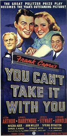 Meet the Syckos: Alice Sycamore (Jean Arthur) falls for Tony Kirby (James Stewart), son of a banker (Edward Arnold), also Arnold Moss.