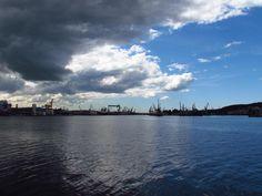 Zdjęcie zrobione z Nabrzeża Portowego