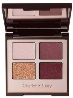 Charlotte Tilbury 'Luxury Palette - The Vintage Vamp' Color-Coded Eyeshadow Palette - The secret to iconic, mesmerizing eyes lies in Charlotte Tilbury's Luxury Palette. It contains four color-coded eyeshadows that offer you a complete desk-to-disco eye color wardrobe in addition to an easy-to-use application ritual that's totally fail-safe. How to use: Day : Use an eye blender brush to apply the Prime shade to the entire eyelid with a backward and forward motion. Then, use an eye smudger…