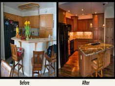 Remodel Kitchen Before And After remodeled kitchens before and after | kitchen remodel - before and