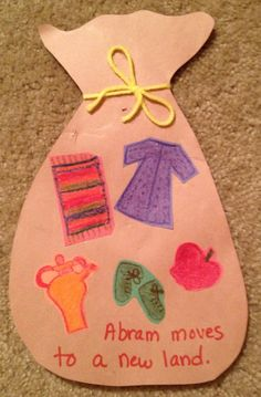 Old Sunday School crafts: Abram (Abraham) moves to a new land. What would he take with him?