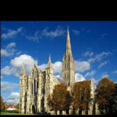 Salisbury Cathederal...it is adorned with over 100 statues built into the outer stone...Soooo cool