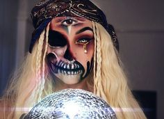 Vampfangs.com Scary Fortune Teller • Amazing and Creative Halloween Look, With Insane Contacts. #vampfangs.com, #halloween, #fortuneteller