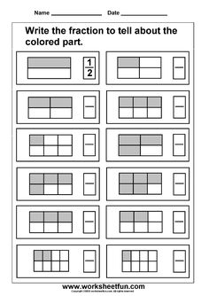 Math worksheets for all levels 3rd Grade Fractions, Learning Fractions, Third Grade Math, Math Fractions, Teaching Math, Dividing Fractions, Teaching Geography, 3rd Grade Math Worksheets, Fractions Worksheets