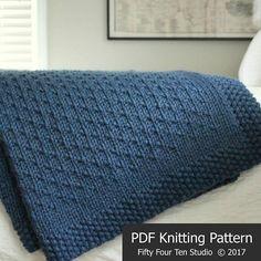 Afghan KNITTING PATTERN / Winter Dance Blanket / Throw / Knit