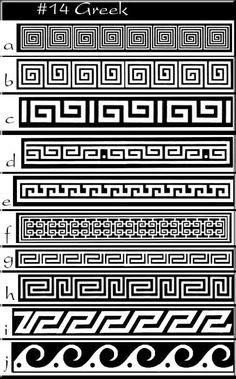 Greek pattern greek idea's -patterns www. Ancient Greek Art, Ancient Greece, Ancient Greek Tattoo, Egyptian Art, Ancient Aliens, Ancient Egypt, Greek Pattern, Pattern Art, Pattern Ideas