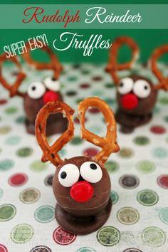 EASY! Rudolph Reindeer Truffles