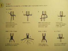 平結び 平編み