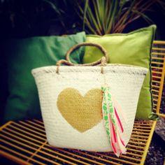 DIY tassel for a beachbag