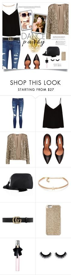 """Dance Party!"" by kays-fashion-escape ❤ liked on Polyvore featuring J Brand, Raey, Tart, The Row, Kenneth Jay Lane, Gucci, Fendi, Michael Kors, Yves Saint Laurent and NewYears"