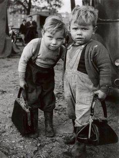 Two little boys in Paris 1962.