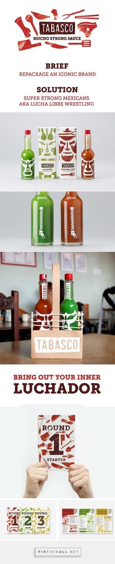 Tabasco Pepper Sauce rebranding by Tony Roberts on Behance curated by Packaging Diva PD. Well, what do you think about the packaging?: