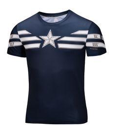 Men's superman Captain America T-shirt