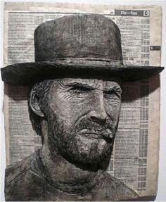 phone-book-sculpture of Clint