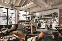 Une cuisine ouverte qui associe tradition et modernité.