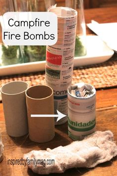 Camping Hacks: Campfire bombs & Upside Down Campfire video - I couldn't believe it, it really works.