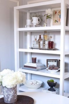 A simple but well curated book shelf
