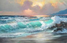 Alexander Dzigurski Pacific Sunset - Southwest Gallery: Not Just Southwest Art.