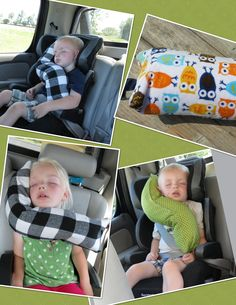 erGO BABY Bendable baby / toddler headrest carseat pillow and cover in Midnight and Orange Owls. $29.99, via Etsy.